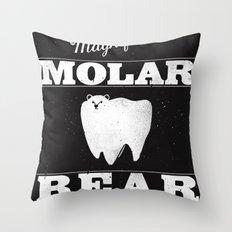 Molar Bear (Gentlemen's Edition) Throw Pillow