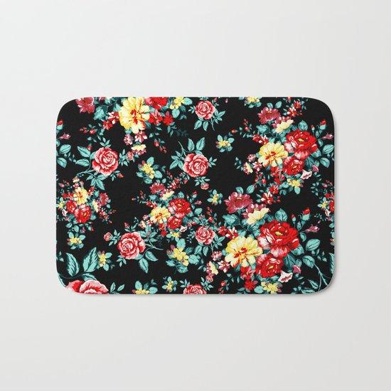 Flowers Pattern Bath Mat
