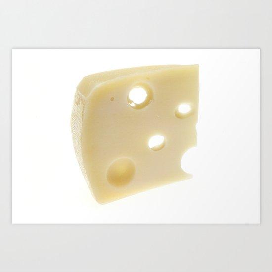 Swiss Cheese Art Print