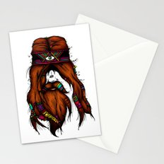 Feel, Peace, Love & Power (Color Version) Stationery Cards