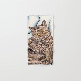 Grey Cat Hand & Bath Towel