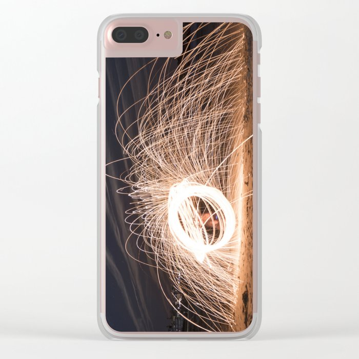 Woolspinning at the Beach Clear iPhone Case