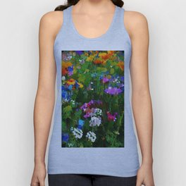Colorful Spring Flowers Unisex Tank Top