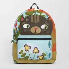 Carton Of Cute Kitties Backpack