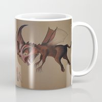 nightmare Mugs featuring Nightmare by Walko