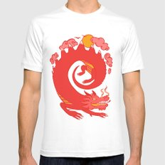 Dragon MEDIUM White Mens Fitted Tee