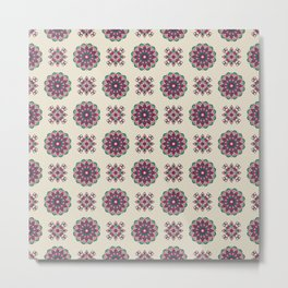 Kinship Summer Geometric Pattern Metal Print