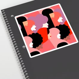 Together Girl Power - Pattern #girlpower Sticker