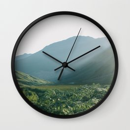 Sunburst in a field in Scotland - Landscape Photography Wall Clock