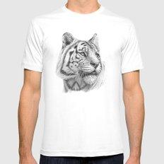 White Tiger G2011-003 MEDIUM White Mens Fitted Tee