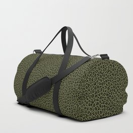 CAMO LEOPARD PRINT – Olive Green | Collection : Punk Rock Animal Prints. Duffle Bag