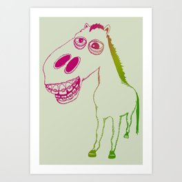 Don't look a gift horse in the mouth Art Print