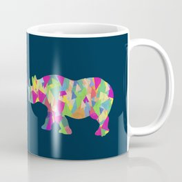 Abstract Rhino Coffee Mug