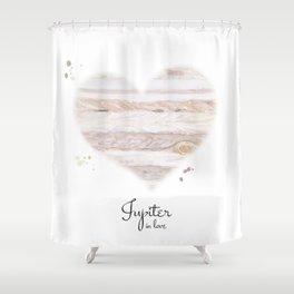 Jupiter in love Shower Curtain