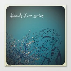 Sounds of new spring Canvas Print