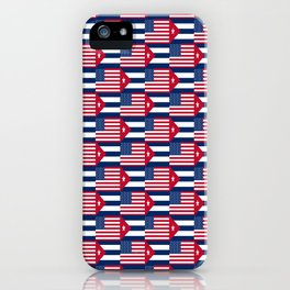 Mix of flag : usa and Cuba iPhone Case