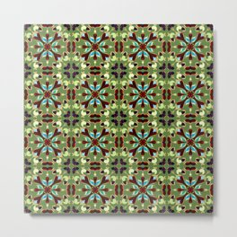 Abstract flower pattern 1e Metal Print