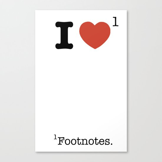 I Heart Footnotes Canvas Print