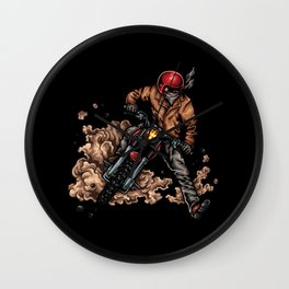 Ride Wild Motorcycle Wall Clock