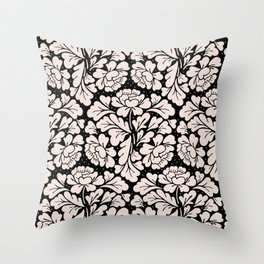Barroco pink and black Throw Pillow