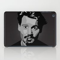 johnny depp iPad Cases featuring Johnny Depp by Tori Kim