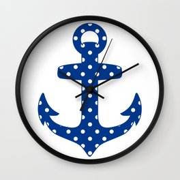 Levando Anclas Azul Wall Clock