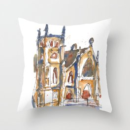 St. James Cathedral, Chicago Throw Pillow