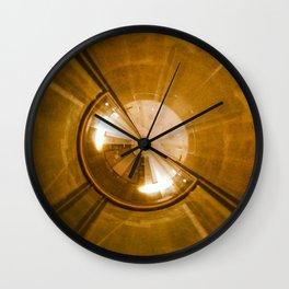 Geometric Art - Gold Wall Clock