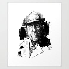 Leonard Cohen (poet, musician) Art Print
