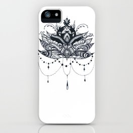 Lotus with Jewels iPhone Case
