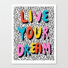 Ya Heard - 1980's throwback retro pattern memphis-style hipster bright colorful pop art minimal rad Canvas Print