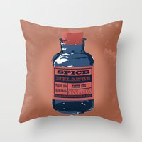 spice Throw Pillows featuring Spice Trade by Brady Terry