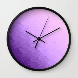 Lavender Texture Ombre Wall Clock