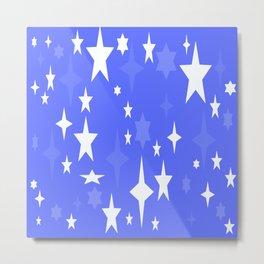 Periwinkle Stars Metal Print
