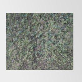 Deep into the Forest (moss, green grass) Throw Blanket