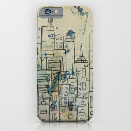 Sketch of buildings in a city that doesn't exist iPhone & iPod Case
