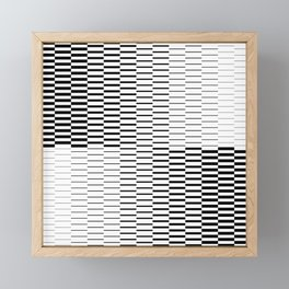 Optical Illusion in Black & White Framed Mini Art Print