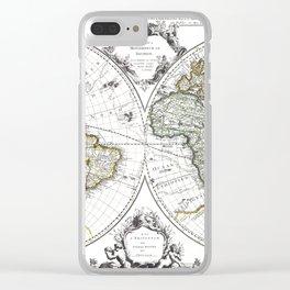World map wall art 1632 dorm decor mappemonde Clear iPhone Case