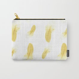 gold feather pattern Carry-All Pouch