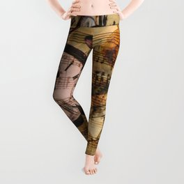 Candy's Steampunk-Music Time Leggings