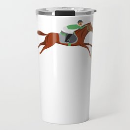 Talk Derby To Me Funny Horse Race Jockey Travel Mug