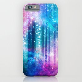 magical nebula forest iPhone Case