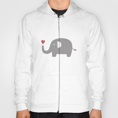 Elephants in love (white) Hoody