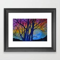 Rainbow Tree Framed Art Print