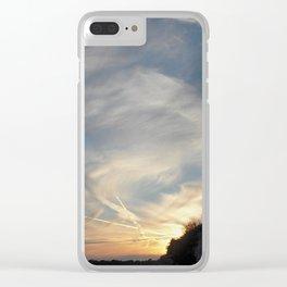 Croatian suset Clear iPhone Case