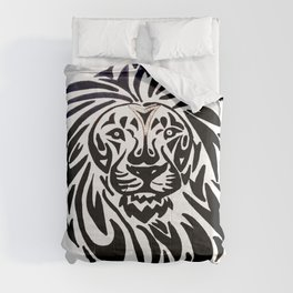 Lion face black and white Comforters