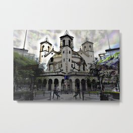 promised as tradeable matter, as if time was warm, Metal Print