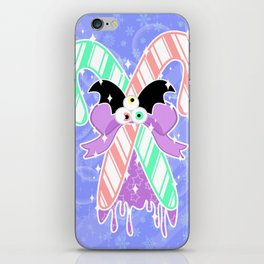 Candy Canes: Pastel Goth Version iPhone Skin