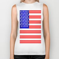 american flag Biker Tanks featuring American Flag by Justbyjulie