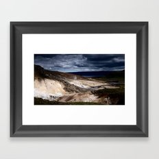 geothermal activity Framed Art Print